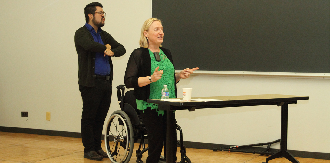 Carrie Sandahl, associate professor, College of Applied Health Sciences and head of the Program on Disability Art, Culture, and Humanities at UIC.