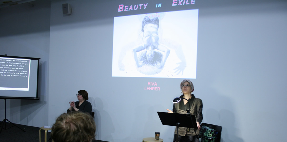 Disabled artist Riva Lehrer, former 3Arts/Bodies of Work Resident Artist giving a talk entitled