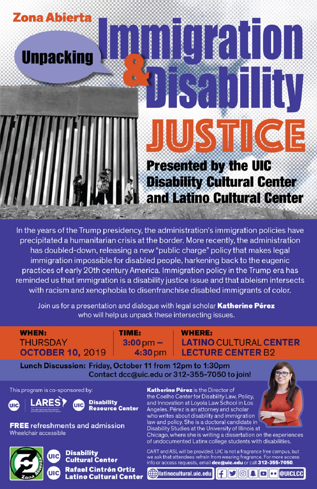 Unpacking Immigration & Disability Justice flyer
