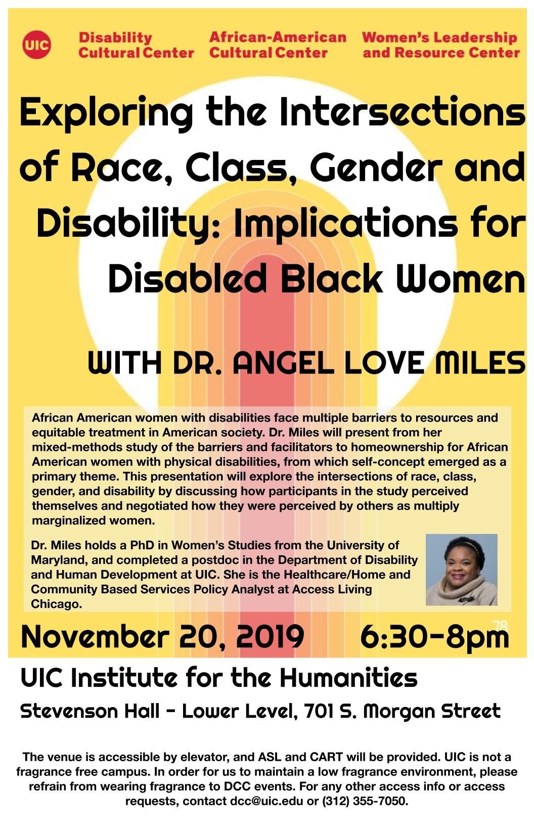 Exploring the Intersections of Race, Class, Gender and Disability flyer