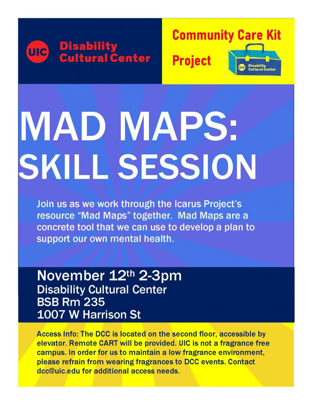Mad Maps: Skill Session flyer