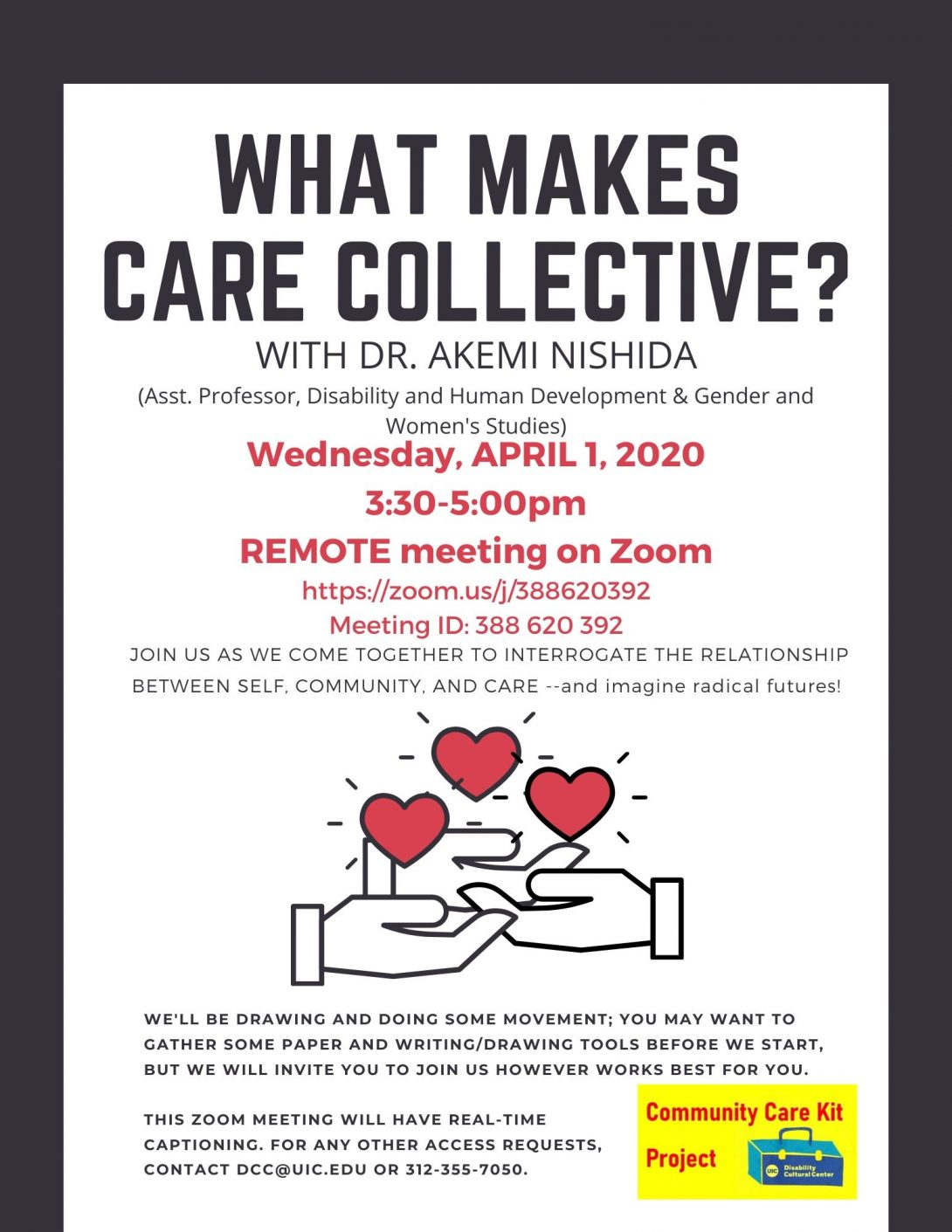 What Makes Care Collective? flyer
