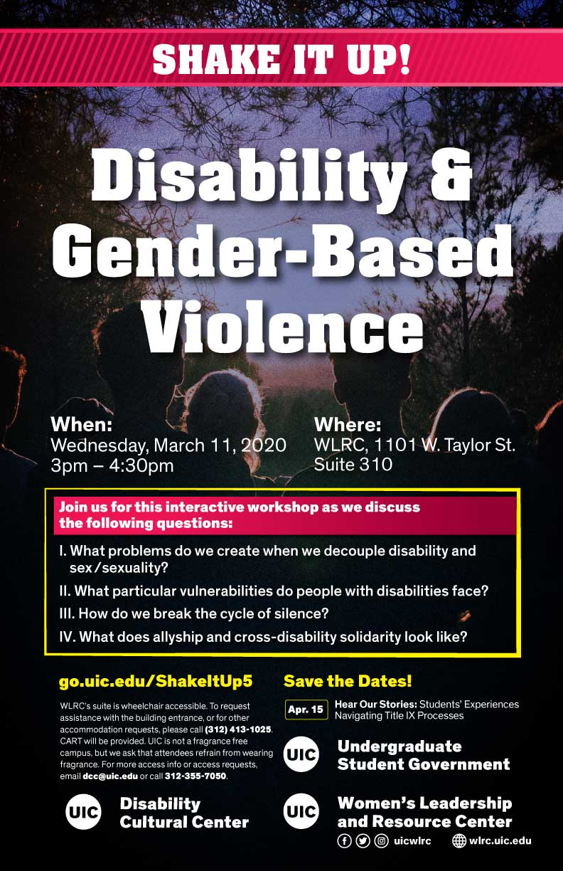 Disability & Gender-Based Violence event flyer