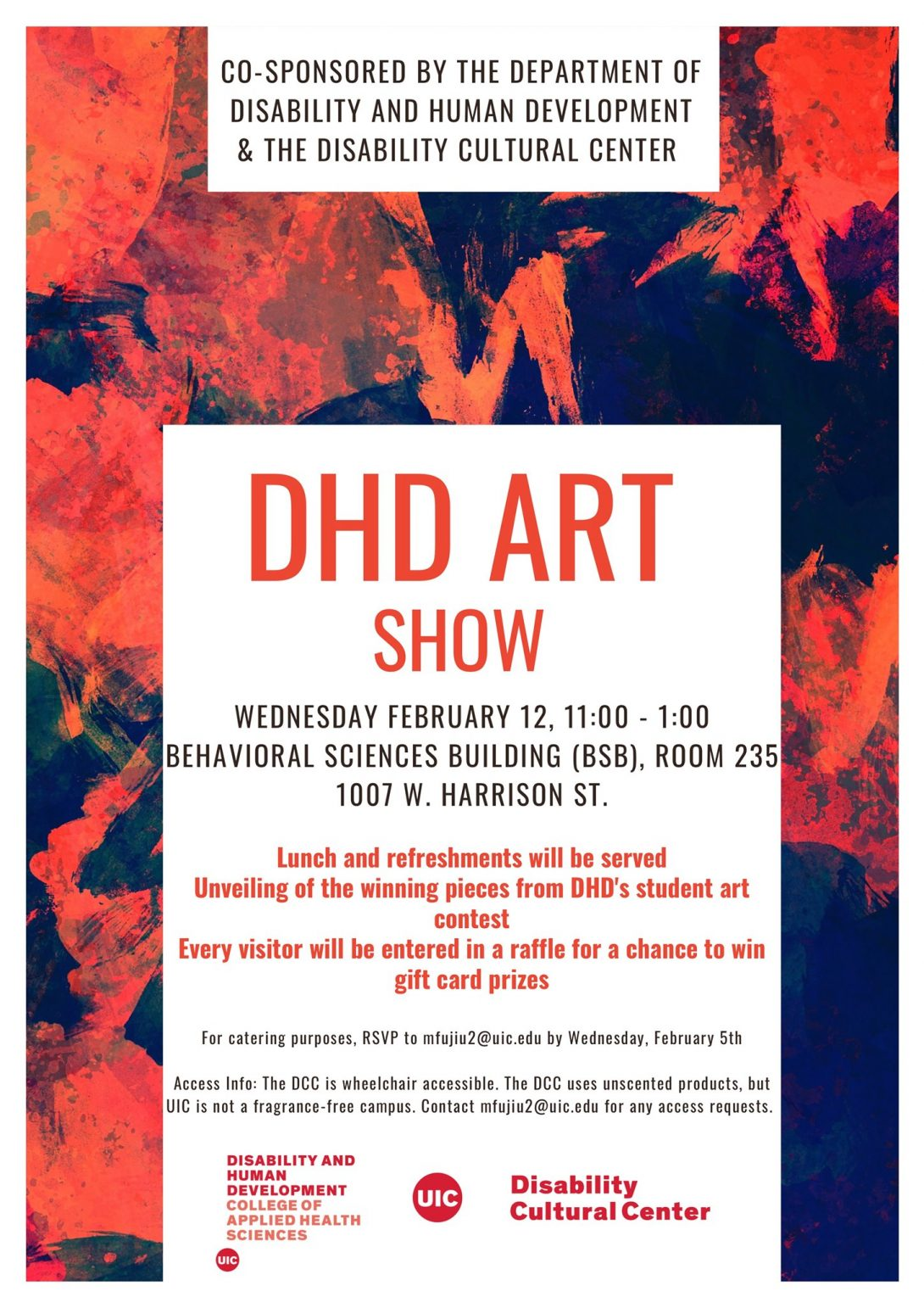 DHD Art Show flyer