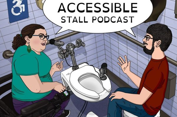 Accessible Stall podcast cartoon