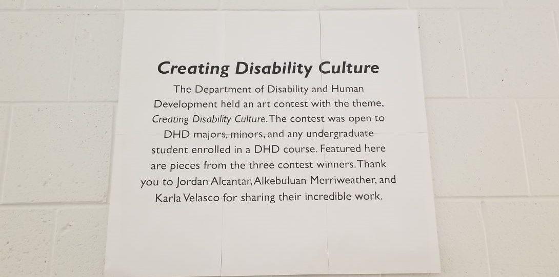 DHD Art Show exhibit sign