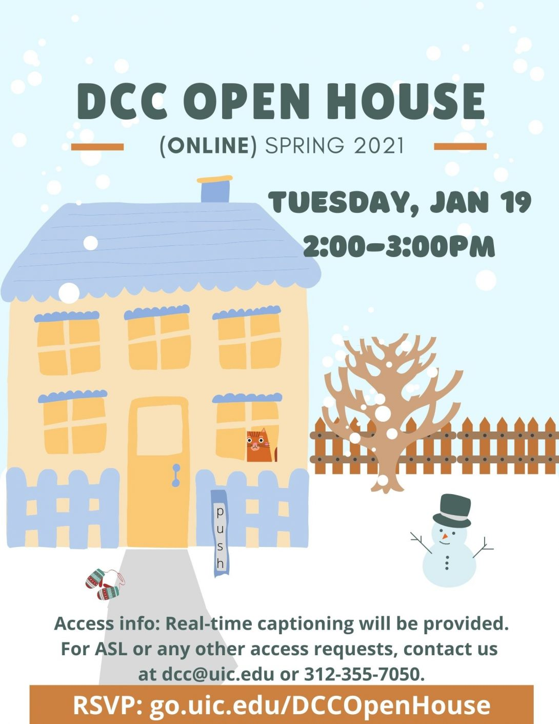 DCC Spring 2021 Open House Flyer