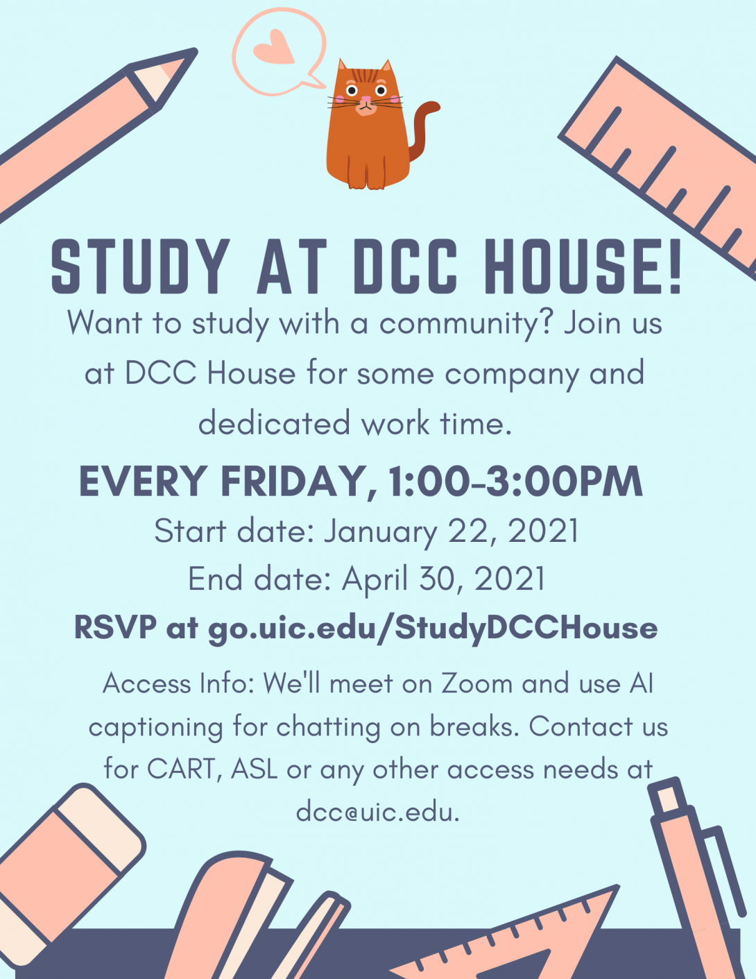 Study at DCC House! Flyer