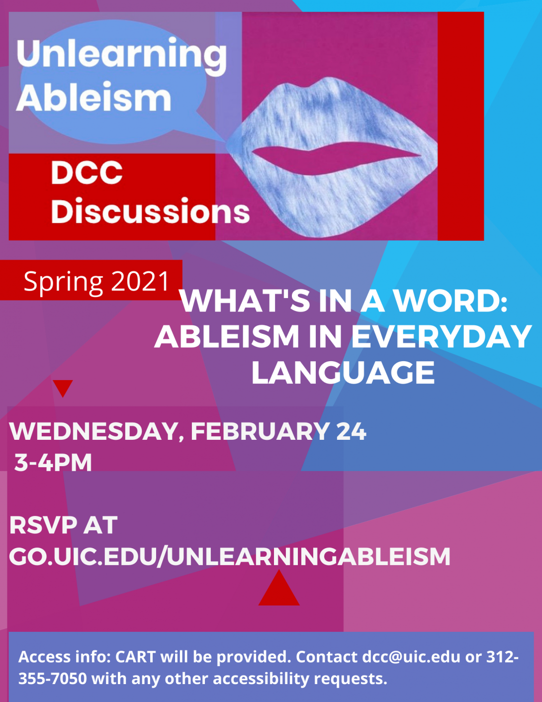 Unlearning Ableism Event Flyer